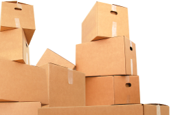 storage solutions: image of cardboard boxes piled up