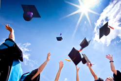 Why bright students are drawn to small businesses - Mortar boards being thrown into air{{}}