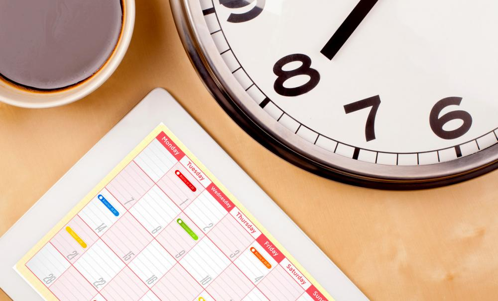 Calendar of key tax and filing dates