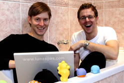 How Nic and James Auckland ste up their online business Luna Spas