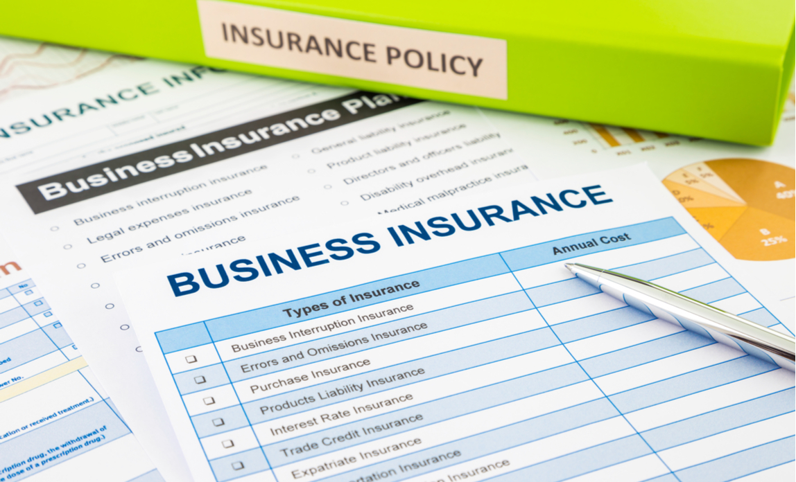 Business insurance documents