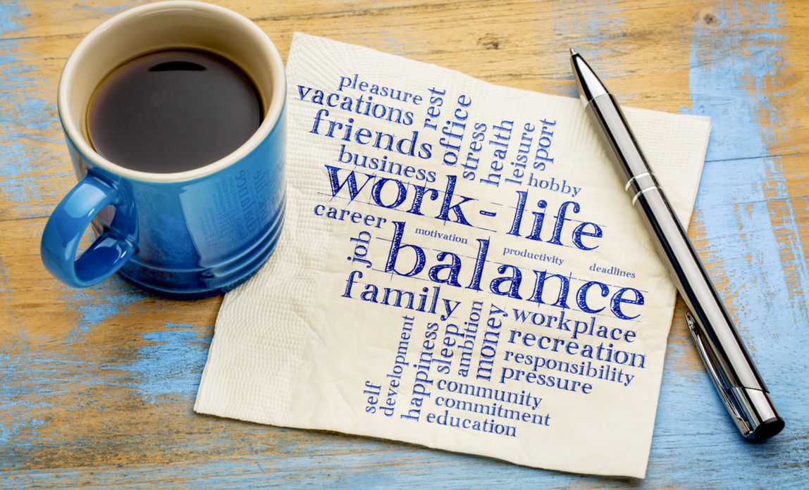 Coffee cup - improve your work life balance