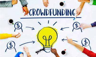 A group of people mind mapping about how to use crowdfunding as a platform for growth