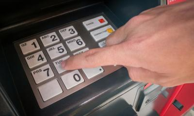 ATM machine pinpad
