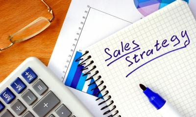 Sales strategy note in a notepad