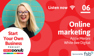 Aggie Meroni talks marketing in episode 06 of the Start Up Your Business podcast